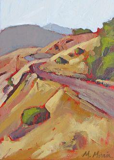 Melanie Morris - Less Traveled II Landscape Quilts, Abstract Landscape, Landscape Paintings, Landscapes, Impressionist Paintings, Paint Designs, Painting Techniques, Art Projects, Art Pieces