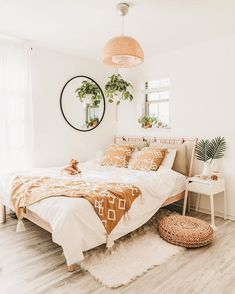 Boho Bedroom Decor, Ikea Bedroom, Room Ideas Bedroom, Bedroom Designs, Bedroom Inspo, Boho Room, Bedroom Modern, Bedroom Bed, Bedroom Romantic