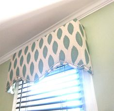 Loving this shape...our next house project is going to be valances for our dining room...we have the fabric; trying to decide the shape now!