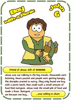 Worksheet For The Boy With A Picnic Feeding Of 5000 John 6 Jesuswithoutlanguage