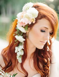 romantic flower hair piece