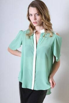 Sage chiffon top, $30.00 by Appealing Boutique