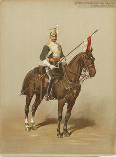 British; 17th Duke of Cambridges Own Lancers, trooper, review order c.1880