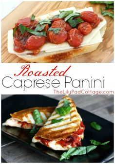Roasted Caprese Paninis