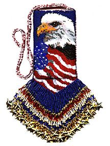 Freedom - beaded amulet pattern by Betty Houser