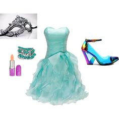 """""""Masquerade Sweet 16"""" by capriglionedana on Polyvore"""