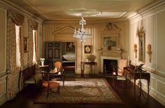 "One of 65 exquisite miniature rooms created in 1940 to depict furnishings and decor from a specific era.  This one is ""Virginia Parlor, 1758-1787."" The Art Institute of Chicago"