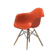 Eames Molded Plastic Armchair with Dowel-Leg Base by Herman Miller|YLiving