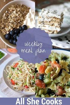 Weekly Meal Plan wit