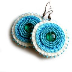 Earrings  felt and bead jewelry by VesztlFanni on Etsy, $17.00