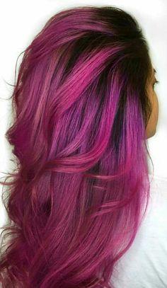 Fuschia hair color #HAIRINSPIRATION #stylish