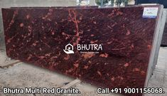 👉 Bhutra Multi Red Granite 👈 Red Multicolour Granitefrom India is the world famous variety for natural building stone. This Granite comes in rich red color with Brown, yellow, white, lavenders speckles and waves. Medium hardness, resistance to scratch, durability, smooth finishing, heat resistance, and durability makes it famous globally. Red Multicolour name is result of rich deep red color. Red Multicolour Granite is suitable for both interior and exterior use furthermore is frost… Building Stone, Natural Building, Granite Slab, Granite Stone, Granite Suppliers, Italian Marble, Deep Red Color, Interior And Exterior, Frost