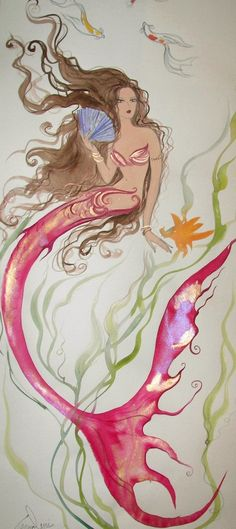 CRAMOLINI MERMAID ART / print by artist / limited 40 by greystar I LOVE HER WORK! Jordan would love this on her wall!
