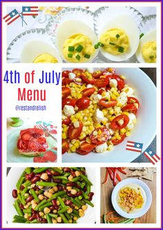 It's time to plan your Fourth of July Menu! Are you looking for easy recipes that can be prepared ahead of time? Rest & Relish has you covered! #fourthofjuly #fourthofjulyfood