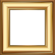Gold and Brown Transparent Photo Frame