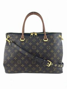 Louis Vuitton Monogram Pallas Black Leather Brown Tote Bag. Get one of the hottest styles of the season! The Louis Vuitton Monogram Pallas Black Leather Brown Tote Bag is a top 10 member favorite on Tradesy. Save on yours before they're sold out!