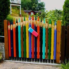 color pencil garden gate