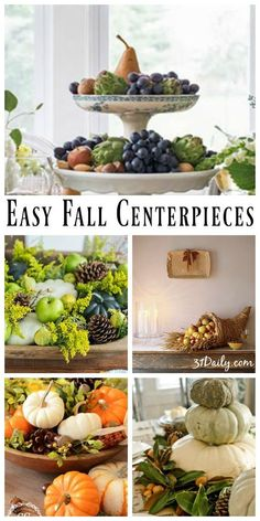 With the changing of the season comes beautiful opportunities to gather at the table. These easy fall centerpieces can take center stage. Fall Home Decor, Autumn Home, Fall Recipes, Thanksgiving Recipes, Food Crafts, Cool Diy Projects, Autumn Inspiration, Autumnal, Centerpieces