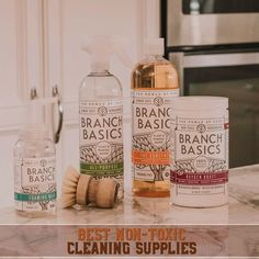 One of the most asked questions… What do you use to clean your laundry? Kitchen? Bathroom! So, today I am going to do a blog on the best, non-toxic cleaning supplies! While I do still use and enjoy some of the other brands you have seen me suggest in the past, there were a few I did avoid so to finally have one brand I can suggest, fully, has been nice! Meet Branch Basics, my current favorite method for all things safe & effective cleaning.