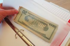 Put leftover cash each month into budget binder (by category) and save. Aim not to spend your entire budget each month.