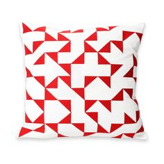 Intaglio IV Lg Pillow 18x18 Red, $40, now featured on Fab.