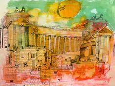 Christopher Tate Art - Rome Gallery | Christopher Tate Art | Cornish Artist Rome, Italy, Gallery, Illustration, Artist, Artwork, Painting, Italia, Work Of Art