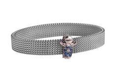 Pulseras de acero inoxidable con clips coleccionables!