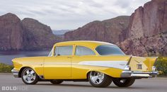 1957 Chevy ... Popular Hotrodding's Project X in its latest trim via GM Performance.