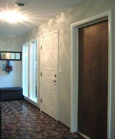 White Trim with Wood Door