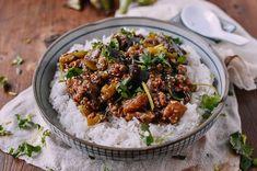 Braised Eggplant with Minced Pork, by thewoksoflife.com