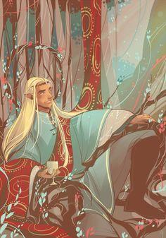 Thranduil by tosquinha #hobbit #fanart