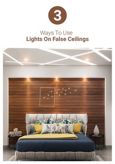3 ways to use lights in your false ceiling design! Check out these expert design tips from Livspace. #livspace #interiordesign #interiors #interiorliving #