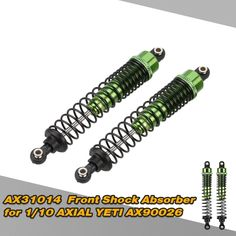 AX31014 Aluminum Front Shock Absorber for 1/10 AXIAL YETI AX90026 RC Crawler Car