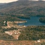 Arial Photo of Lakeview Camping Area and Lake Eden