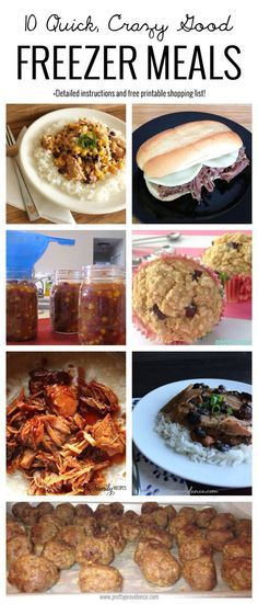 10 quick, crazy good freezer meals! Okay, I made two of each of these freezer meals last Saturday (for a total of 20 meals), it only cost me $210 and my freezer went from empty to fully stocked! Plus the meals we've tried so far have been seriously good!