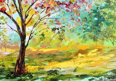 "Karen's Fine Art – Gallery Represented Modern Impressionism in oils    Title: Summer Blooms  Original oil painting by Karen Tarlton  Size: 12""x 16"""
