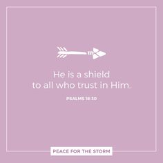 As for God, His way is perfect; the word of the Lord is proven. He is a shield to all who trust in Him. Psalms 18:30 (NKJV)