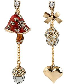ENCHANTED MUSHROOM MISMATCH EARRING RED accessories jewelry earrings fashion