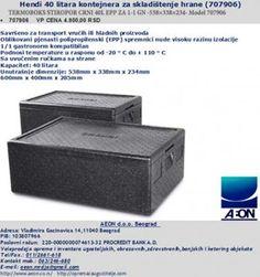 TERMOBOKS STIROPOR CRNI 40L EPP ZA 1-1 GN -538×338×234- Model 707906