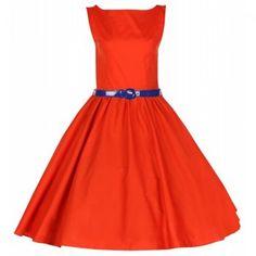 Audrey Hepburn Orange Swing Dress | Vintage Inspired - Lindy Bop