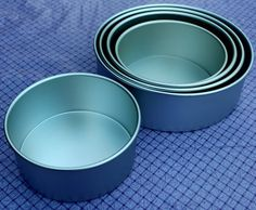 These charts give the multiplication fact to use if you are modifing your cake recipe for a larger cake tin size.