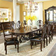 Nine Piece Dining Room Furniture   Furniture Churchill 9 Piece Dining Set    Royal Furniture  