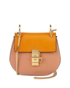 Drew Small Chain Shoulder Bag, Sand by Chloe at Neiman Marcus.