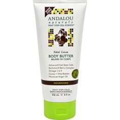 Andalou Naturals Nourishing Body Butter Kukui Cocoa Description: Fruit Stem Cell Science Regenerating Fruit Stem Cells Renew Repair Regenerate 82% Certified Organic Ingredients Nourishing tropical nut