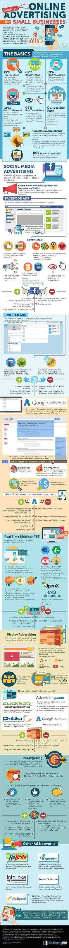 Online Advertising A Beginners Guide to Social Media and Google Ads #Infographic
