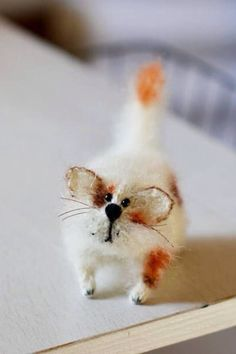Spotted cat stuffed animal sculpture cat art doll home décor