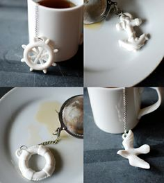 tea infusers with fabulous wee anchors at the ends, tea shop for sure @Errin Edlin and @Jenny Davis
