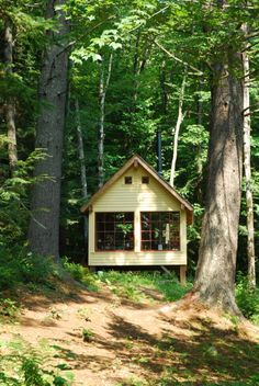 Sleeping house in Tamworth, New Hampshire. Built in 2008 by a father and son team from locally milled lumber.Submitted by Charlie Myer.