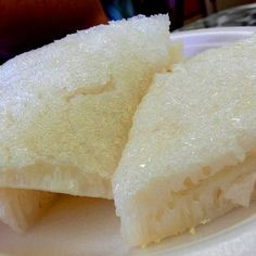 For Chinese New Year ~ Chinese Rice Cake Recipe Desserts with long-grain rice, sugar, water, compressed yeast Food Cakes, Rice Cakes, Steamed Rice Cake, Hawaiian Desserts, Asian Desserts, Chinese Desserts, Hawaiian Recipes, Hawaiian Cakes, Filipino Desserts