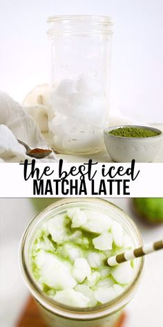 Learn how to make the best iced matcha latte! This healthy drink recipe is made in the blender with matcha powder, dairy free milk, vanilla and maple syrup. It's a great alternative to coffee in the mornings! Matcha Drink, Matcha Smoothie, No Dairy Recipes, Tea Recipes, Smoothie Recipes, Homemade Smoothies, Jelly Recipes, Blender Recipes, Canning Recipes